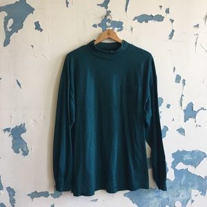 Gitano | Vintage Hunter Green Mock Neck Cotton Top